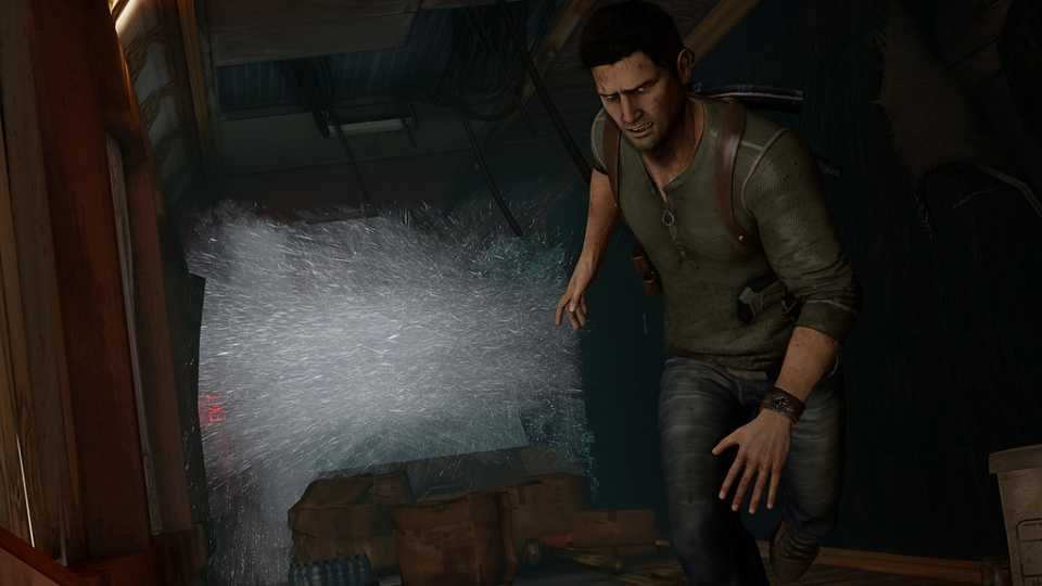 E3 gameplay occurred with Drake on a moving ship.