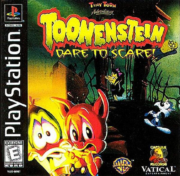 Tiny Toons Adventures - Toonenstein - Dare to Scare! [U] [SLUS-00967] front cover