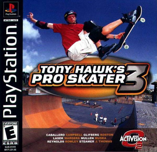 Tony Hawk's Pro Skater 3 [U] [SLUS-01419] front cover