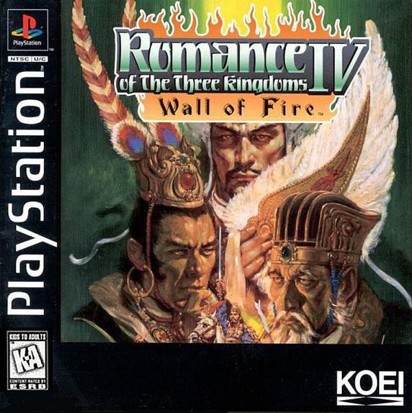 Romance of the Three Kingdoms IV - Wall of Fire [U] [SLUS-00195] front cover