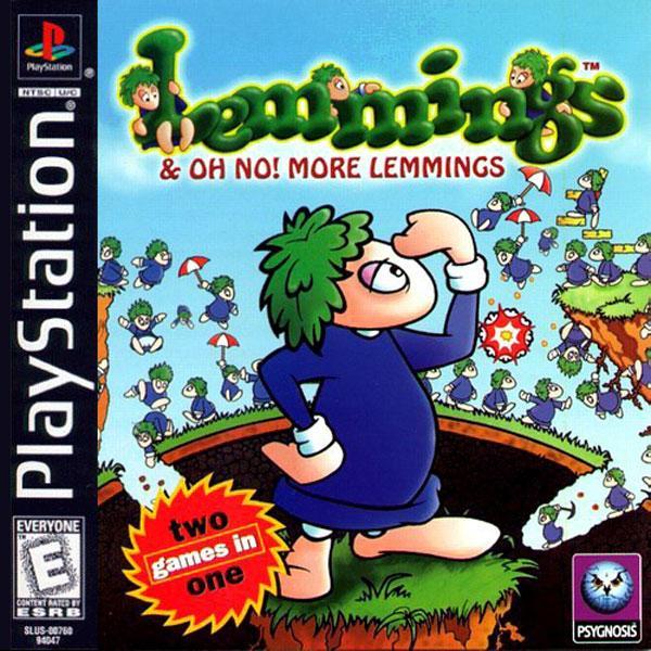 Lemmings & Oh No! More Lemmings [U] [SLUS-00760] front cover