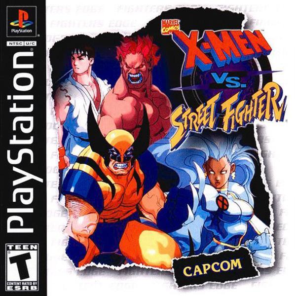 X-Men vs. Street Fighter [U] [SLUS-00627] front cover