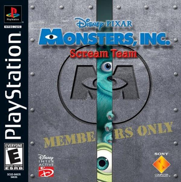 Monsters Inc. - Scream Team [U] [SCUS-94635] front cover