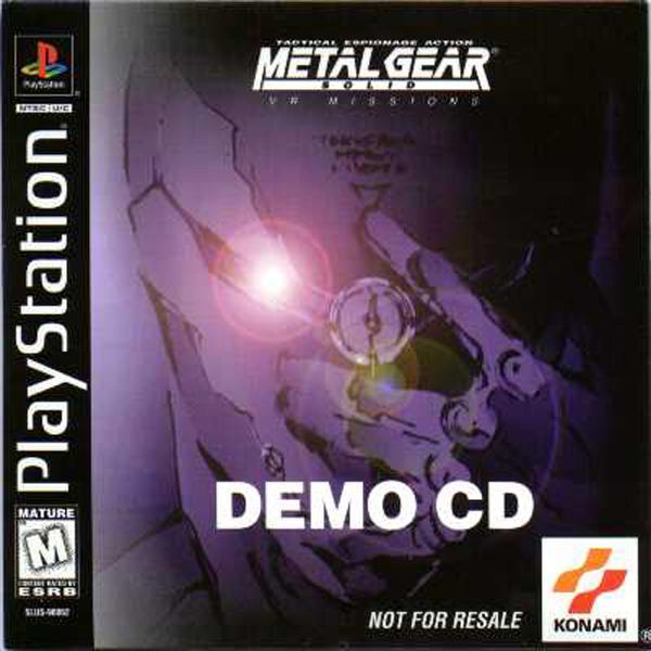 Metal Gear Solid VR Missions [DEMO] [U] [SLUS-90062] front cover