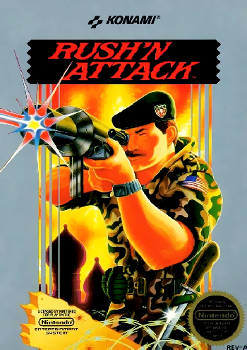 Rush'n Attack (USA) cover