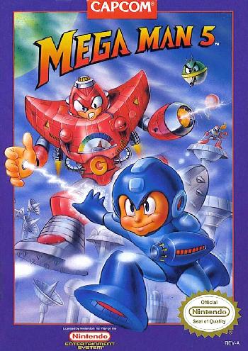 Mega Man 5 (USA) cover