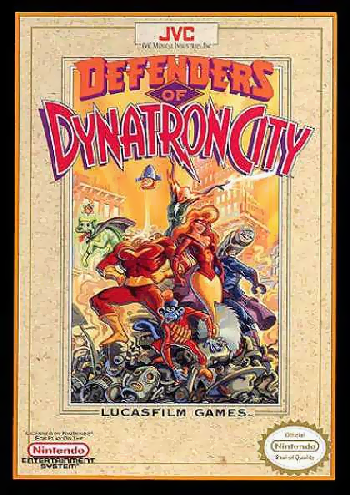 Defenders of Dynatron City (USA) cover