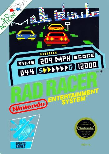 Rad Racer (USA) cover