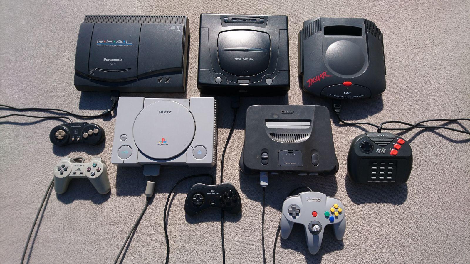 5gen- Panasonic fz-10 3DO, Sega saturn, Atari jaguar, PS1, Nintendo64