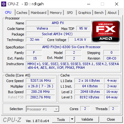 FX 6300 overclock (antras bandymas)