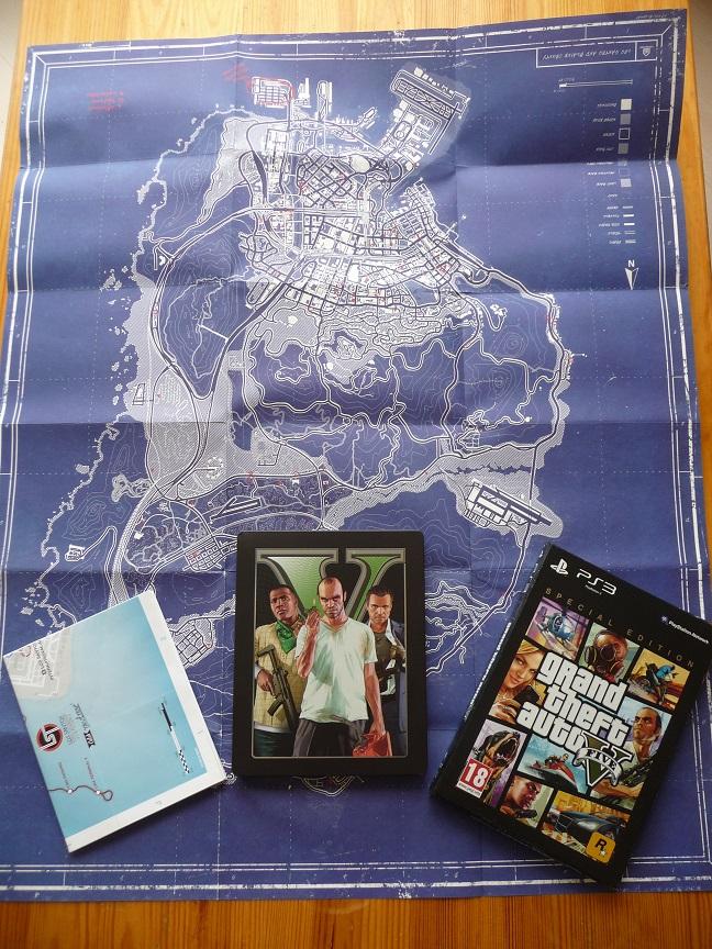 Upgreidas į GTA Limited Steelbook edition ir dar žemėlapis aukštyn kojom :D
