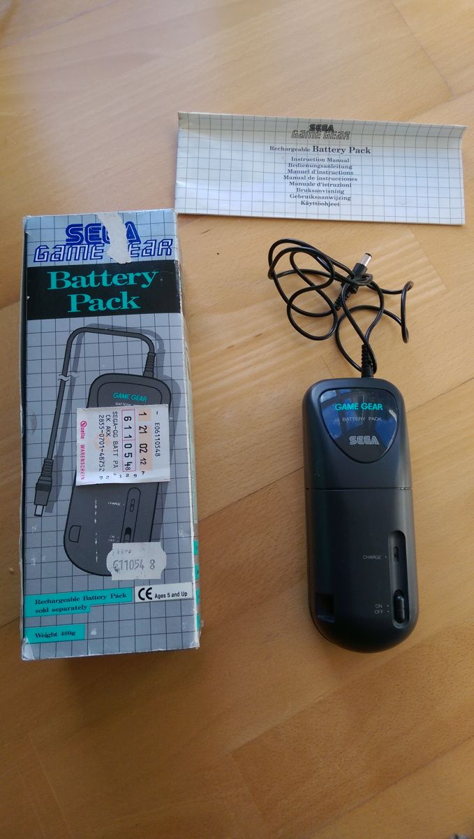 Sega Game Gear Battery Pack