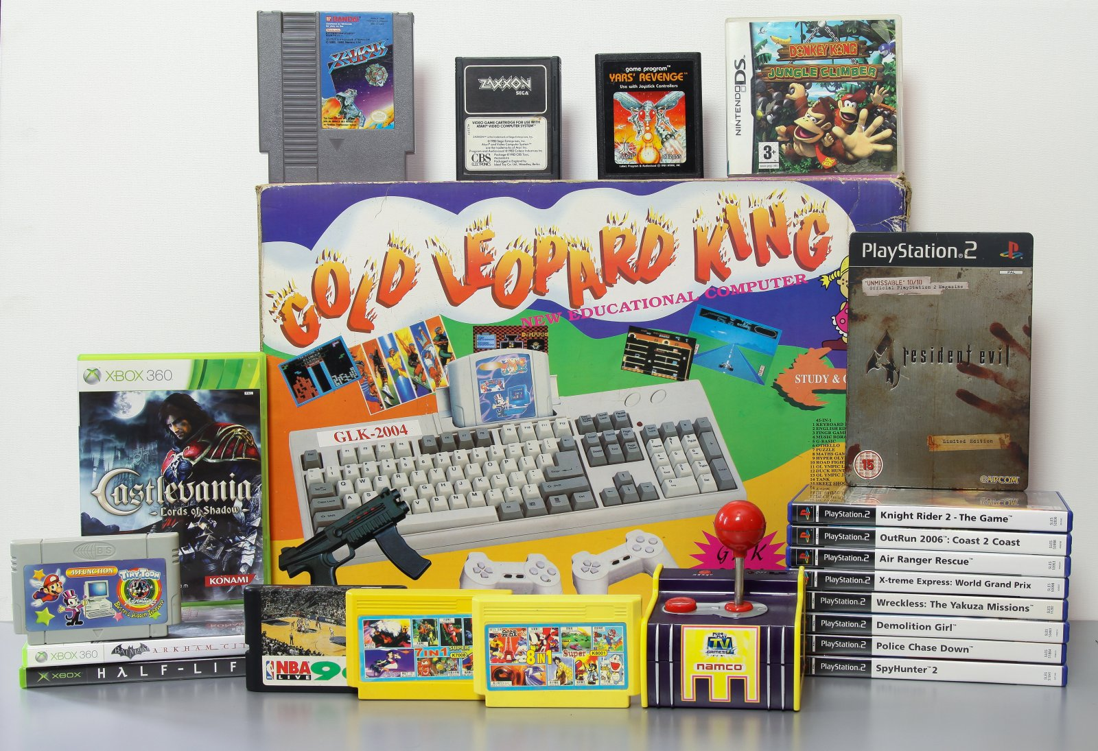 Famiclone, X360, PS2, NES, Atari 2600, Nintendo DS, NAMCO