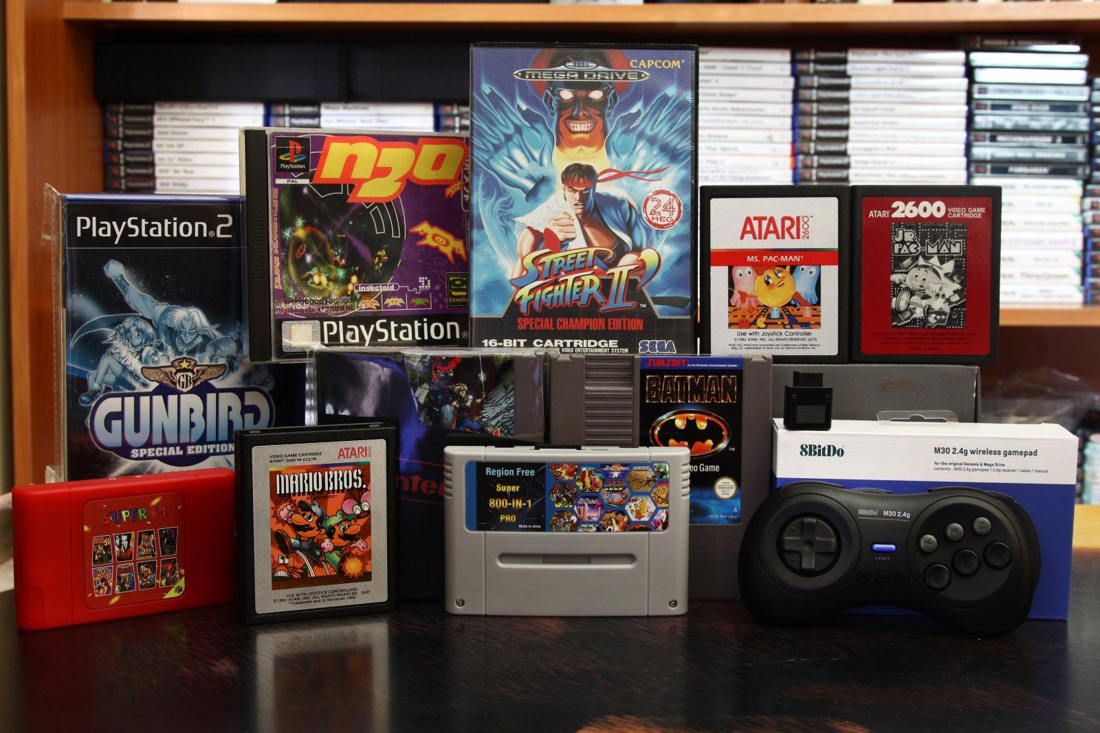 Atari 2600, Sega, PS1, PS2, SNES, N64
